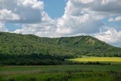 Terra nella valle di Appelle del ` di Qu, Saskatchewan orientale, Canada dell'azienda agricola Immagine Stock