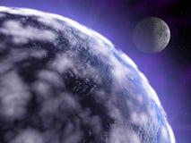 Terra nello spazio Fotografia Stock