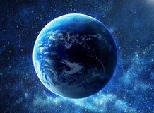 Terra nello spazio Fotografie Stock Libere da Diritti