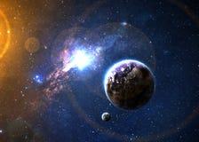 Terra nello spazio Fotografie Stock