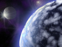 Terra no espaço Imagem de Stock