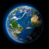 Terra no espaço Imagens de Stock Royalty Free