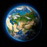 Terra no espaço Imagens de Stock