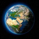 Terra no espaço Foto de Stock Royalty Free