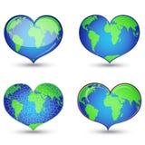 Terra no formulário do coração Fotografia de Stock Royalty Free