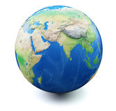 Terra no fundo branco Imagem de Stock