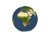 Terra no fundo branco Fotos de Stock Royalty Free