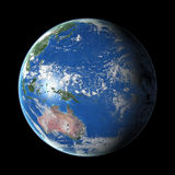 Terra no fundo preto Imagens de Stock Royalty Free
