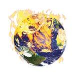 Terra no incêndio ilustração do vetor