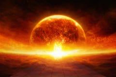 Terra no inferno fotografia de stock