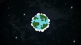 Terra no laço do espaço ilustração stock