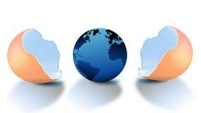 Terra no ovo Imagem de Stock