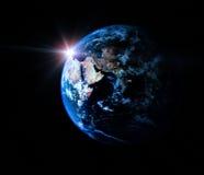 Terra no universo Fotografia de Stock Royalty Free