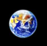 A terra, nosso planeta home, vista do espaço foto de stock