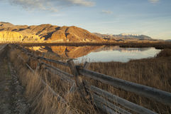 Terra occidentale del ranch degli Stati Uniti Idaho del bello paesaggio Fotografia Stock