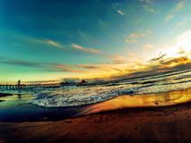 Terra, oceano da reunião Fotografia de Stock Royalty Free