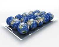 Terra - a opinião da cornucópia Fotografia de Stock