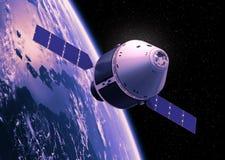 Terra orbitante del veicolo di esplorazione della squadra Immagine Stock Libera da Diritti