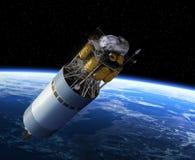 Terra orbitante del veicolo di esplorazione della squadra Fotografie Stock Libere da Diritti