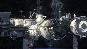 Terra orbitante della Stazione Spaziale Internazionale stock footage