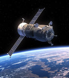Terra orbitante di progresso del veicolo spaziale del carico Fotografia Stock Libera da Diritti