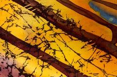 Terra?os do arroz, fragmento, batik quente, arte abstrata feito a m?o do surrealismo na seda ilustração royalty free