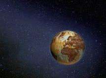 Terra oxidada no espaço fotos de stock