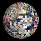 Terra parzialmente coperta dalla sfera cinese del Yuan Fotografia Stock