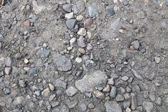 Terra, pietre e sabbia Fotografia Stock Libera da Diritti