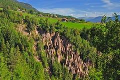 Terra Pyramides, Tirolo del sud Immagini Stock Libere da Diritti
