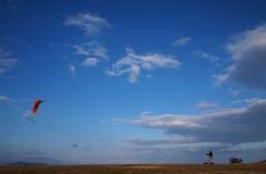 Terra que kiting Fotografia de Stock