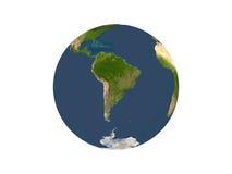 Terra que mostra Ámérica do Sul Foto de Stock