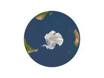 Terra que mostra Continente antárctico Foto de Stock Royalty Free