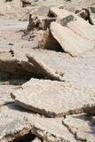Terra rachada, mar inoperante Jordão fotos de stock royalty free