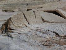 Terra rachada, mar inoperante Jordão imagens de stock royalty free