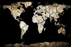 Terra rachada seca do planeta Imagem de Stock