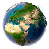 Terra realística do planeta com natural ilustração do vetor
