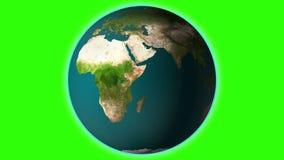 Terra realística que gerencie com vídeo verde da tela HD Globo de Loopable ilustração do vetor