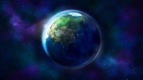 Terra real?stica do espa?o que mostra ?sia, Austr?lia e Oceania fotografia de stock
