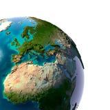 Terra realistica del pianeta Immagine Stock