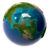 Terra realistica del pianeta con naturale Fotografie Stock Libere da Diritti