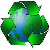 Terra recicl ilustração do vetor