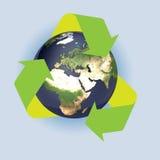 A terra recicl Imagem de Stock