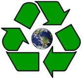 A terra recicl dentro o símbolo Fotos de Stock