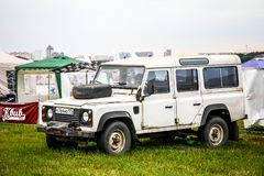 Terra Rover Defender fotos de stock