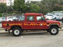 Terra Rover Defender do corpo dos bombeiros de Gibraltar Imagem de Stock Royalty Free