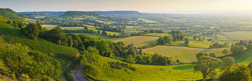 Terra rural idílico, Cotswolds Reino Unido imagens de stock