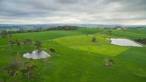 Terra rurale australiana dell'azienda agricola Immagini Stock