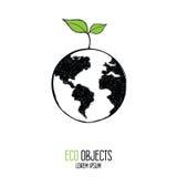 Terra saudável Etiqueta de Eco Imagem de Stock Royalty Free