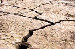 Terra seca e rachada Deserto Fotos de Stock Royalty Free